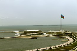 Baku bolvard and flag square.JPG