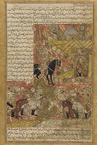 Khaydhar ibn Kawus al-Afshin - Babak parleys with the Afshin Haydar, the Caliph al-Mu'tasim's general