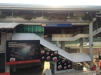 Bandaraya LRT station - Image: Bandaraya LRT Station 1