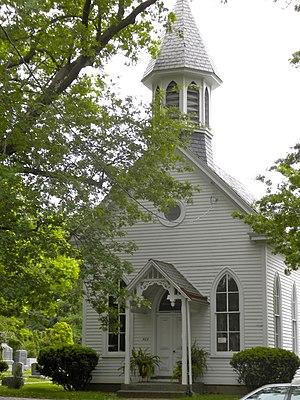 Haddonfield Historic District - Image: Baptist Chapel Haddonfield NJ