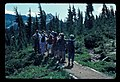 Barb Jensen guiding walk with visitors. Possibly Paradise. September, 1981. slide (fe501eb0a8eb42568770b64f2cee661a).jpg