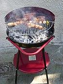 Una griglia durante un barbecue