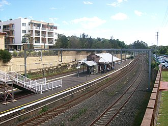 Bardwell Park railway station - Westbound view in December 2011