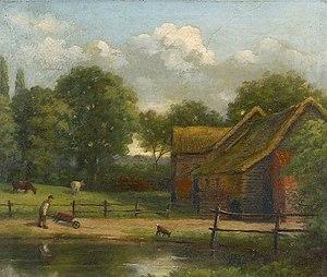Henry Davy - Seventeenth-Century Barn by Henry Davy