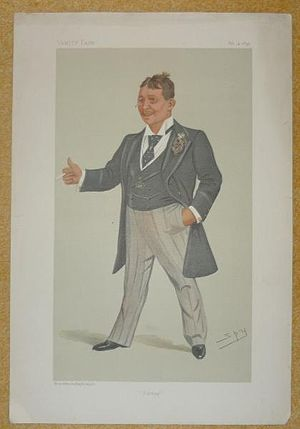 Barney Barnato - Barnato caricatured by Spy in Vanity Fair, 1895