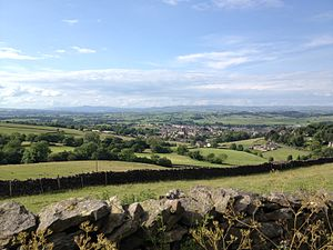 Barnoldswick - Image: Barnoldswick, looking across Craven and the Yorkshire Dales