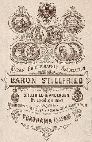Baron Raimund von Stillfried - Image: Baron Stillfried Verso 1883
