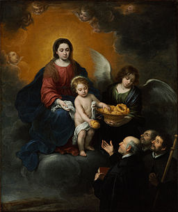 Bartolomé Esteban Murillo - The Infant Christ Distributing Bread to the Pilgrims - Google Art Project