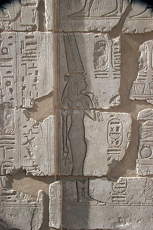 Shepenupet II - Image: Bas relief at the mortuary temple of Ramesses III 1