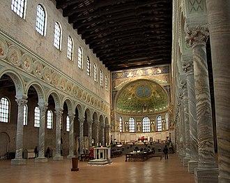 Basilica - Byzantine Basilica of Sant'Apollinare in Classe near Ravenna in Italy