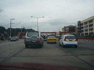 Batasan Hills - Batasan Road, one of the major roads of Batasan Hills.