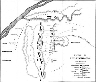 Battle of Chillianwala - Map of the battle