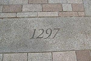 English: Battle of Stirling Bridge Stone A sto...