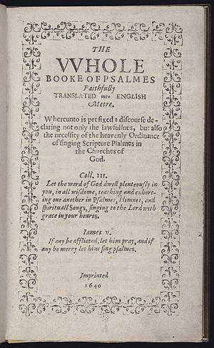 Hezekiah Usher - Bay Psalm Book, first book Usher sold