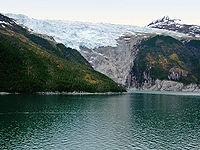 Glaciar junto al Canal del Beagle