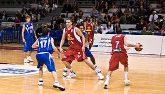 Baloncesto León - A match against Plus Pujol Lleida in 2008.