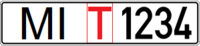 Belarus temporary license plate - MI T 1234.png