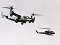 Bell XV-15 in flight with US Navy UH-1N 1983.jpeg