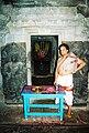 Belur temple sanctum guarded by Jaya and Vijaya.jpg