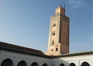 Ben Youssef Mosque building in Africa