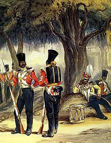 Sepoy dell'Esercito del Bengala.