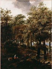 Route à travers un bois