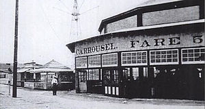 Bergen Beach, Brooklyn - Carousel of the former Bergen Beach Amusement Park in 1905.