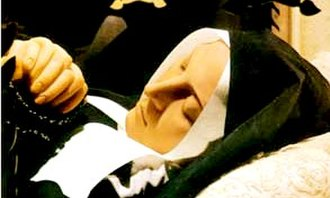 Bernadette Soubirous - Wax coverings on the body of Saint Bernadette Soubirous represent how her hands and face looked at the time of her death.