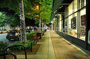 Bethesda, Maryland - Bethesda Avenue at night