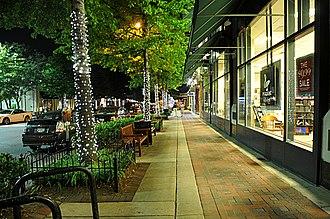 Bethesda, Maryland - Bethesda Avenue at night
