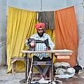 Bhura Singh, Tailor from Rampura Jawaharwala, Punjab, India 01.jpg