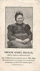 Bidprentje - moeder Victor De Lille - België
