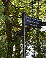 Black fingerpost at Forty Hall, Enfield, London, England 2.jpg