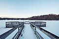 Blackhawk Lake Dock in Winter - Blackhawk Park, Eagan, Minnesota (28317714748).jpg