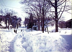 Northeastern United States blizzard of 1978 - Maple Street in Woonsocket, Rhode Island