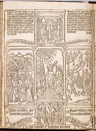 """Block book - Biblia Pauperum (""""Bible of the Poor"""")"""