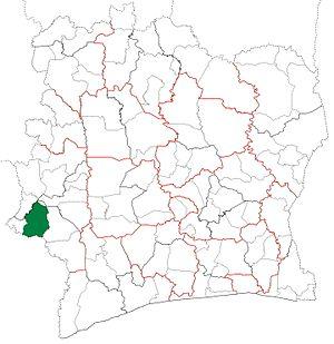Bloléquin Department - Image: Bloléquin Department locator map Côte d'Ivoire