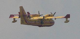 """Sécurité Civile - Bombardier 415 """"Superscoop"""" over Cargèse, Corsica"""