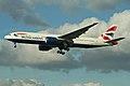 Boeing 777-236ER G-YMMN British Airways (6986975044).jpg