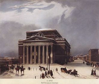Bolshoi Theatre - The old Bolshoi Theatre in the early 19th century
