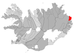 Location of the Municipality of Borgarfjarðarhreppur