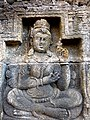 Borobudur - Divyavadana - 078 N, King Sikhandi learns of Rudrayana's planned Return (detail 1) (11706762356).jpg