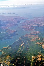 Bosphorus aerial view