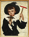 Boy with hummingbird, Jan van Beers.jpg
