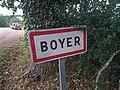 Boyer (Loire) - Panneau entrée (août 2020).jpg
