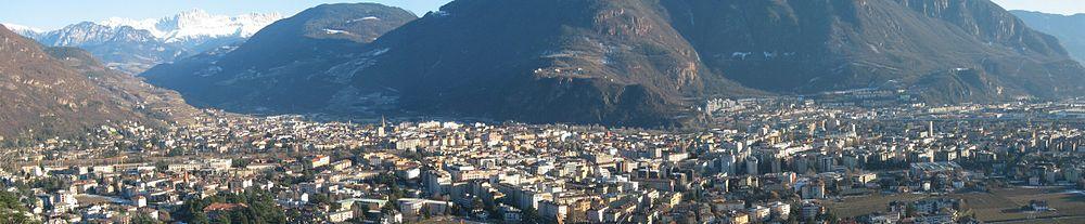 Panorama di Bolzano verso il Gruppo del Catinaccio