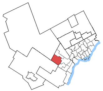 Brampton West - Brampton West in relation to other Greater Toronto Area electoral districts