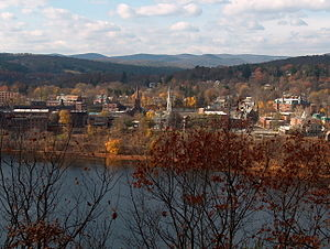 Brattleboro, Vermont, with the Connecticut Riv...
