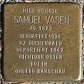 Braunschweig Stolperstein Samuel Vasen (cropped).JPG