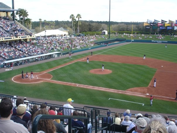 A Braves spring training game against the Mets in 2008 Braves spring training2008.png